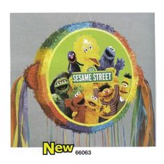 Sesame Street Group PinataDrum Pull x wide Pinata Party, Sesame Street Party, Party Accessories, Party Hats, Party Themes, Balloons, Banner, Birthday Parties, Table Decorations