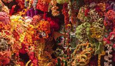 This is a CROCHETED reef! Smithsonian Community Reef - http://ocean.si.edu/ocean-photos/rainbow-crocheted-corals