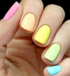 Easter Nails and manicure ideas Nagellack Design, Easter Nails, Rainbow Nails, Neon Rainbow, Super Nails, Gorgeous Nails, Trendy Nails, Nails Inspiration, Fun Nails