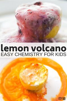 Erupting Lemon Volcano Chemistry for Kids Science Activities