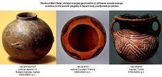Din importantul sit neolitic Hacilar, situat în sud-vestul Turciei, provine un vas ceramic datat între 5700-5400 î.e.n., care are gravat o svastică. Şi în acest caz legătura dintre svastică şi Marea Zeiţă este evidentă: lângă fiecare braţ al svasticii sunt practicate câte trei incizii circulare, poziţionate înşiruit şi paralel cu braţele svasticii, sugerând cele trei degete ale fiinţelor mitice din mitologia vechilor europeni. Putem considera că vasul ceramic reprezintă pântecul Marii Zeiţe.