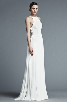 Designers have once again recreated the traditional white wedding dress into a variety of modern, minimal, romantic and fashion-forward styles. Through a mix of jeweled embellishments, delicate laces, sheer fabrics and pastel hues, brides will be pleasantly surprised to find a huge variety of weddin