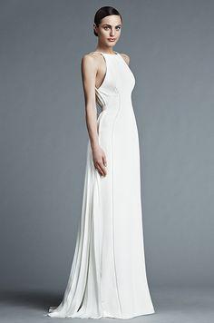 Inspiração de vestido de noiva sem brilho. Vem ver mais ideias aqui: http://emtn.me/VestidoDeNoivaSemBrilho