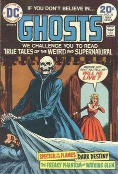 Dc Comics - Supernatural - Skeleton - Freaky Phantom Of Watkins Glen - Dark Destiny - Nick Cardy Sci Fi Comics, Horror Comics, Marvel Girls, Comic Books For Sale, Comic Books Art, Frank Miller, Deathstroke, Power Girl, Ghost Comic