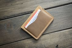 Driftwood 5 Card Leather Wallet from Popov Leather