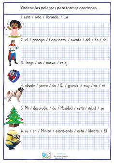 Ayer os compartía el primer cuadernillo de actividades para trabajar la comprensión lectora a partir de frases desordenadas. Os comparto ahora la versión más sencilla