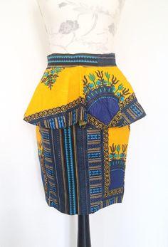 Elegant african highwaist wax Print skirts von Urban-Apparel auf DaWanda.com