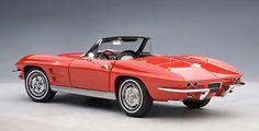 CHEVROLET CORVETTE CONVERTIBLE (RIVERSIDE RED) 1963 (LIMITED EDITION 6.000PCS WORLDWIDE) Kategorie: Modellautos 1:18AUTOartmodels.de - Gateway Europe GmbH