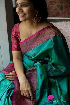 Pattu Saree Blouse Designs, Half Saree Designs, Trendy Sarees, Fancy Sarees, Latest Silk Sarees, Saree Jewellery, Silk Sarees Online Shopping, Silk Saree Kanchipuram, Traditional Silk Saree