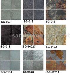 slate flooring-I love slate more then wood and carpet.
