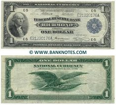 Richmond National Bank Note ~ United States of America Currency Gallery