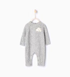 Cloud knit sleepsuit from Zara