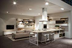 Cucina e soggiorno open space - Open space accogliente | Cucina ...