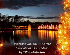 McAdenville NC Christmas Town USA - right outside of Charlotte - definitely headed here in December!