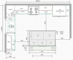 Why Everybody Is Talking About Kitchen Layout With Island Small Floor Plans.The Simple Truth R Kitchen Layout U Shaped, Kitchen Layout Plans, Kitchen Layouts With Island, Island Kitchen, Small Kitchen Plans, Kitchen Ideas, Kitchen Cabinet Layout, Kitchen Decor, Diy Kitchen