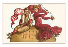 Retro graphic visualizing football player and his cheer girl. I like their gestures...