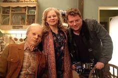 Smaragdgrün - Paul (Florian Bartholomäi), Lucy (Josefine Preuß) & Regisseur Felix Fuchssteiner   Behind the scenes