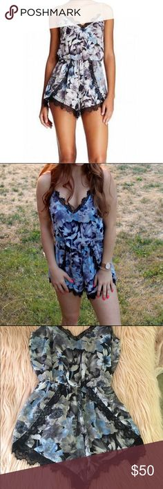 ASTR Blue Floral Romper S Worn Once This is a beautiful floral romper perfect for spring! Only worn once. ASTR Other