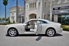 Rolls-Royce Wraith in Carrara White. More photos here https://blog.dupontregistry.com/rolls-royce/rare-rolls-royce-wraith-in-carrara-white-for-sale/