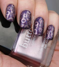 Girly Bits Purple Potion and Stamping