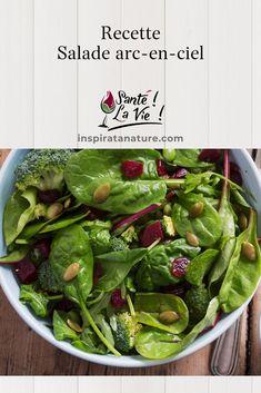Dans cette capsule Santé! La vie!, Krystine St-Laurent nous présente une succulente recette de salade arc-en-ciel.  Elle nous explique les bienfaits des différents ingrédients sur notre corps.  Facile, simple et coloré ! #recette #salade #nutrition Capsule, Laurent, Sprouts, Spinach, Nutrition, Vegetables, Simple, Food, Salad