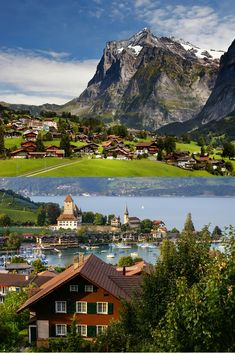 #Interlaken is surrounded by three majestic mountains: Eiger, Mönch and Jungfrau, making it ideal for outdoor lovers. #raileurope #inlovewithswitzerland