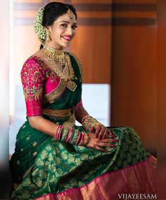 South indian blouse designs for a royal bridal look shaadisaga Lehenga Designs, Wedding Saree Blouse Designs, Half Saree Designs, Pattu Saree Blouse Designs, Blouse Designs Silk, Lehenga Saree Design, Blouse Back Neck Designs, Saris Indios, South Indian Blouse Designs