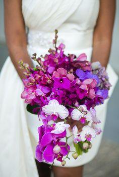 Purple & Fuchsia Orchid Bouquet