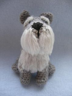 PATTERN ONLY Schnauzer Crochet PDF instructions by cuteandkaboodle