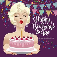 Best Birthday Quotes Funny Its My 52 Ideas Happy Birthday Artist, Happy Birthday To Me Quotes, Happy Birthday Video, Birthday Girl Quotes, Happy Birthday Messages, Birthday Images, Marilyn Monroe Birthday, Its My Birthday Month, 25th Birthday