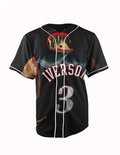 Allen Iverson Bla... http://www.jakkoutthebxx.com/products/real-american-size-allen-iverson-nba-basketball-3d-sublimation-print-custom-made-black-button-up-baseball-jersey-plus-size?utm_campaign=social_autopilot&utm_source=pin&utm_medium=pin #fashionmodel  #model #fashiontrends #whatstrending  #ontrend #styleblog  #fashionmagazine #shopping