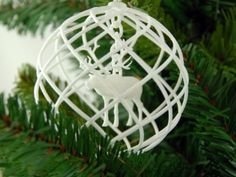 Rudolph 3D printed in a Christmas Decoration by imaterialise - Thingiverse