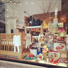 @Kalon Studios IO CRIB in the holiday window of @Sprout San Francisco in Chicago