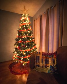 Arthur is relaxing by the Christmas tree. Arthur Pillow Case