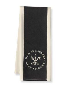 Williams Sonoma Open Kitchen Striped Towel, Black