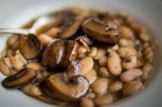 "Mushroom ""Carnitas"" with Heirloom White Beans – Experiments in my New World Kitchen and Garden"