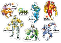 Encourage kids to look after their environment with these Super Hero character stickers.      6 mixed designs     240 stickers per pack     Ref: SP4  Price     £11.25 FREE UK DELIVERY     (£9.38 ex VAT)