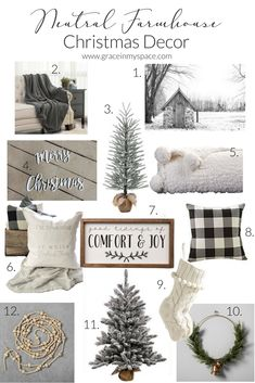 Neutral Farmhouse Christmas Decor Under 35 Looking For Neutral Farmhouse Christmas Decor I 39 Ve Got Lots Of Cozy And Beautiful Options For You Under 35 Farmhouse Christmas Decor, Cozy Christmas, Country Christmas, Beautiful Christmas, All Things Christmas, Christmas Holidays, Farmhouse Decor, Christmas Wreaths, Primitive Christmas