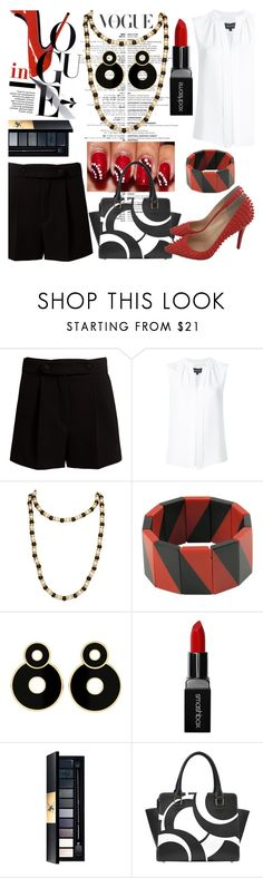 """office wear"" by audreybrookezaring ❤ liked on Polyvore featuring Valentino, Derek Lam, Chanel, Smashbox, Yves Saint Laurent and Christian Louboutin"