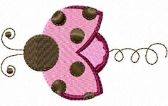 Lady Bug Swirl Embroidery Design by SewMeSomeStitches on Etsy