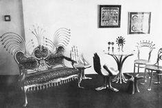 Muebles, esculturas y obras de arte de Pedro Friedeberg, México DF 1965 -  Furniture, sculpture, and works of art by Pedro Friedeberg, Mexico DF 1965