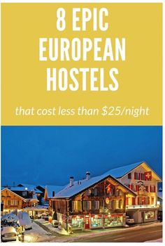 8 Beautiful European Hostels For Under $25 Per Night #Travel #Musely #Tip