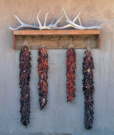 Love the ristras but not necessarily the deer horns. Think maybe southwest plates.