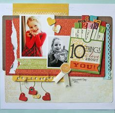 like mulitcolor top 10 tags and the hearts dangling from punched holes.  cute!