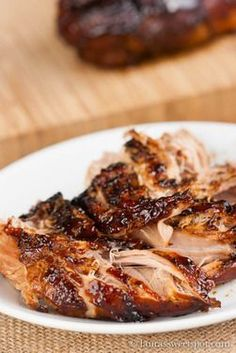 Crockpot Brown Sugar Balsamic Glazed Pork Tenderloin recipe from Food52