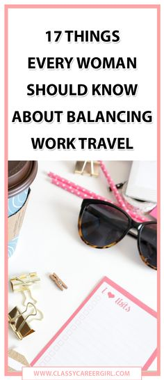 If you have to travel for work, you'll love this.  http://www.classycareergirl.com/2016/04/balancing-work-travel/