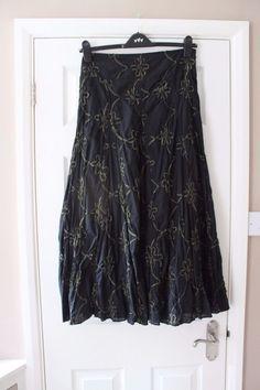 Laura Ashley Ladies Navy PU Trim Ponte Skirt Size 8-20