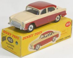 Dinky Toys No.165 Humber Hawk. This is the burgundy and cream version which I had