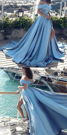 Off Shoulder Long Satin Prom Dresses,Formal Evening Gown,71706 by Dress Storm, $143.00 USD