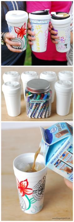 DIY Iced Coffee Carafes are a fun summer activity!